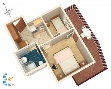 Apartment A-4071-b - Apartments Stara Novalja (Pag) - 4071