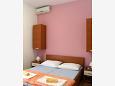 Stara Novalja, Sypialnia 1 u smještaju tipa apartment, dostupna klima.