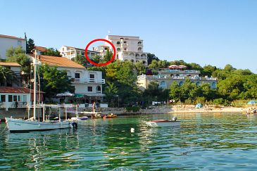 Property Potočnica (Pag) - Accommodation 4072 - Apartments near sea with pebble beach.