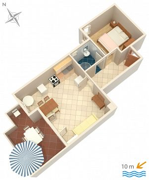 Apartment A-4088-b - Apartments Kustići (Pag) - 4088