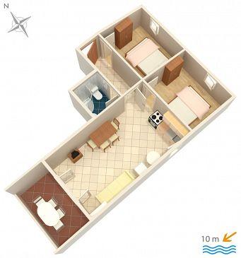 Apartament A-4088-c - Apartamenty Kustići (Pag) - 4088