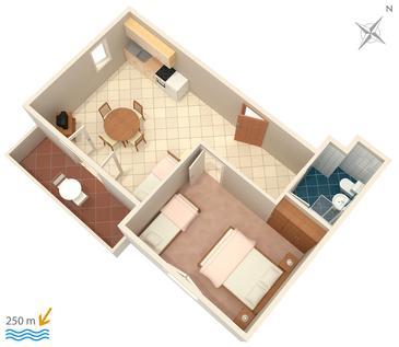 Apartament A-4113-a - Apartamenty Mandre (Pag) - 4113
