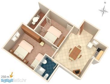 Apartment A-4113-d - Apartments Mandre (Pag) - 4113