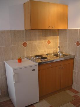 Mandre, Kitchen u smještaju tipa studio-apartment, dopusteni kucni ljubimci.