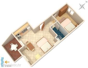 Apartment A-4115-a - Apartments Metajna (Pag) - 4115