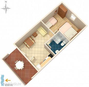 Apartment A-4117-a - Apartments Metajna (Pag) - 4117
