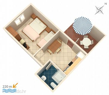 Apartment A-4121-d - Apartments Metajna (Pag) - 4121