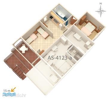 Apartment A-4123-a - Apartments Mandre (Pag) - 4123