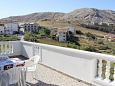 Terrace - Apartment A-4127-a - Apartments Metajna (Pag) - 4127