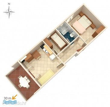 Apartment A-4129-b - Apartments Kustići (Pag) - 4129