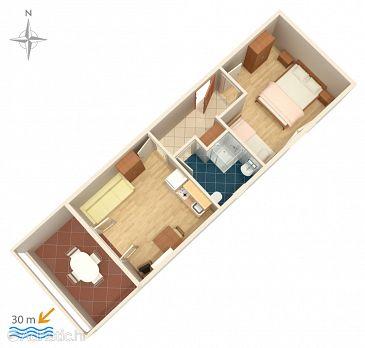 Apartment A-4129-c - Apartments Kustići (Pag) - 4129