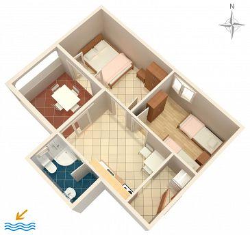 Apartament A-4129-d - Apartamenty Kustići (Pag) - 4129