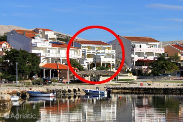 Property Kustići (Pag) - Accommodation 4129 - Apartments near sea with pebble beach.