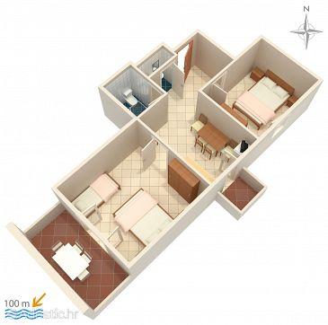 Apartment A-4130-e - Apartments Zubovići (Pag) - 4130
