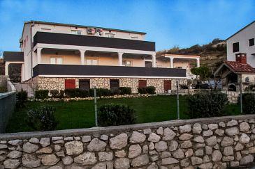 Obiekt Metajna (Pag) - Zakwaterowanie 4133 - Apartamenty z piaszczystą plażą.