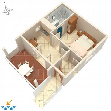 House K-4152 - Vacation Rentals Stara Novalja (Pag) - 4152