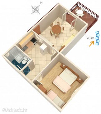 Apartment A-4168-b - Apartments Bilo (Primošten) - 4168
