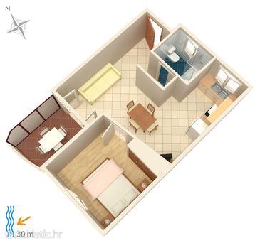 Apartment A-4194-c - Apartments Brodarica (Šibenik) - 4194