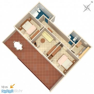 Apartament A-4198-d - Apartamenty Vodice (Vodice) - 4198