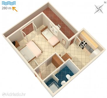 Studio flat AS-4231-a - Apartments Vodice (Vodice) - 4231