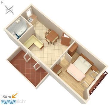 Apartment A-4249-a - Apartments Brodarica (Šibenik) - 4249