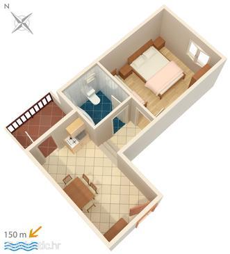 Apartment A-4249-b - Apartments Brodarica (Šibenik) - 4249