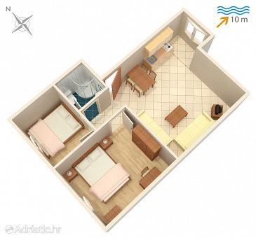 Apartment A-4255-b - Apartments Rogoznica (Rogoznica) - 4255
