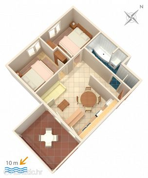Apartment A-4288-c - Apartments Vinišće (Trogir) - 4288