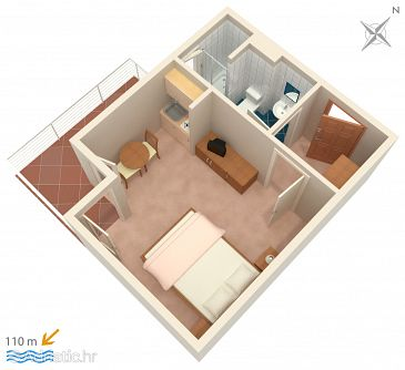 Studio flat AS-4325-b - Apartments Podstrana (Split) - 4325