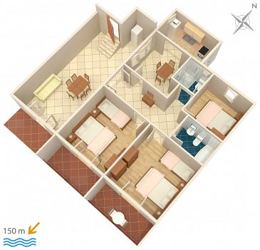 Apartament A-4332-a - Apartamenty Podgora (Makarska) - 4332