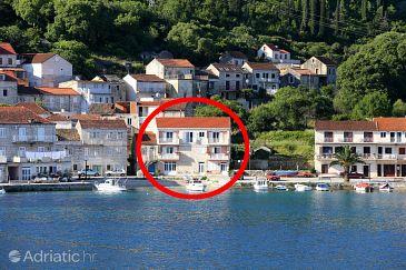 Property Račišće (Korčula) - Accommodation 4344 - Apartments near sea with pebble beach.