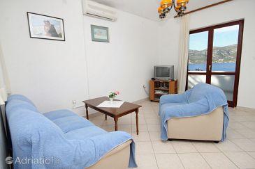 Tri Žala, Living room u smještaju tipa apartment, dostupna klima, dopusteni kucni ljubimci i WIFI.
