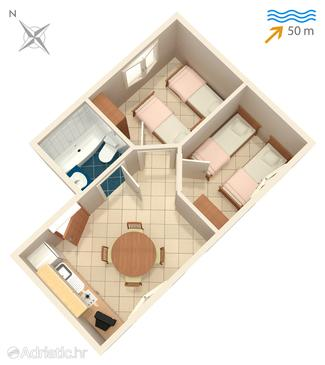 Apartman A-4373-a - Apartmanok Korčula (Korčula) - 4373