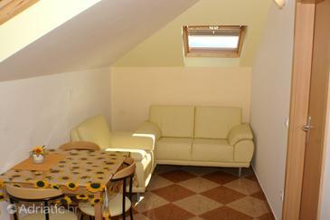 Korčula, Living room u smještaju tipa apartment.