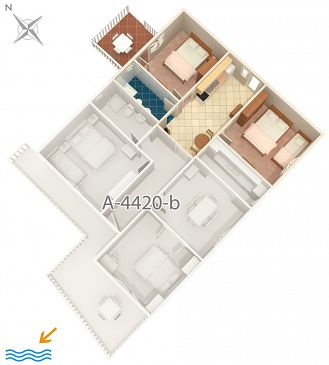Apartment A-4420-c - Apartments Zavalatica (Korčula) - 4420