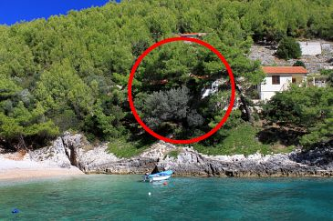 Property Bratinja Luka (Korčula) - Accommodation 4434 - Apartments near sea with pebble beach.