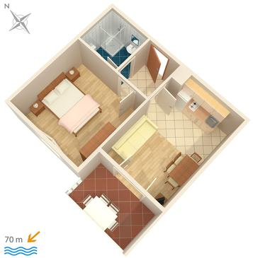 Apartment A-448-b - Apartments and Rooms Uvala Soline (Dugi otok) - 448