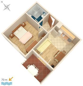 Apartment A-448-e - Apartments and Rooms Uvala Soline (Dugi otok) - 448