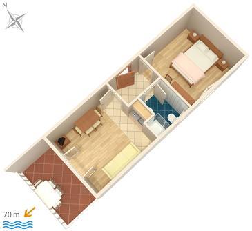 Apartment A-448-f - Apartments and Rooms Uvala Soline (Dugi otok) - 448