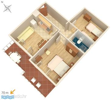 Apartment A-448-h - Apartments and Rooms Uvala Soline (Dugi otok) - 448
