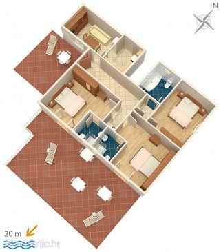 Kučište - Perna, Plan u smještaju tipa apartment, WIFI.