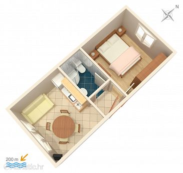 Apartment A-4500-b - Apartments Orebić (Pelješac) - 4500
