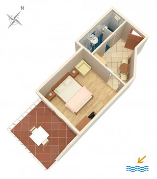 Studio AS-4554-b - Apartamenty Orebić (Pelješac) - 4554