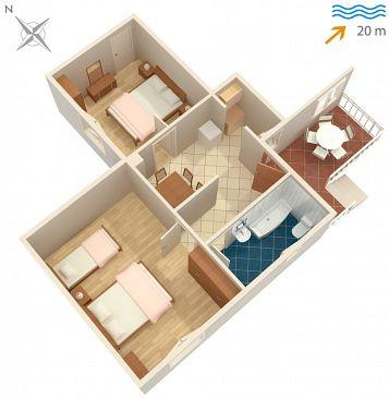Apartament A-4560-b - Kwatery Sreser (Pelješac) - 4560