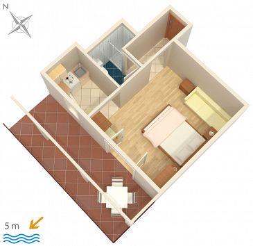 Studio flat AS-458-a - Apartments Okrug Gornji (Čiovo) - 458