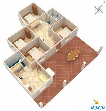 Dom K-4592 - Willa Uvala Girna Luka (Hvar) - 4592