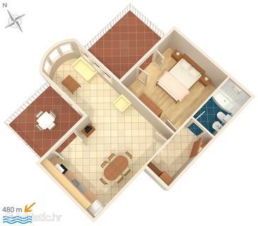 Apartment A-4593-b - Apartments Hvar (Hvar) - 4593