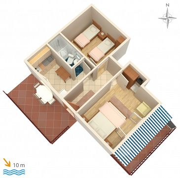 Apartament A-4598-b - Apartamenty Uvala Zaraće (Hvar) - 4598