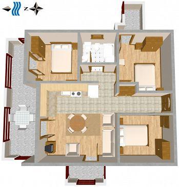 Apartament A-460-a - Apartamenty Slatine (Čiovo) - 460