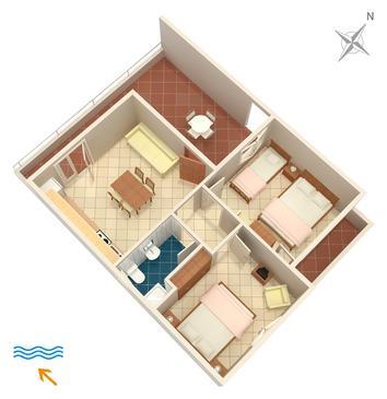Apartament A-4604-b - Apartamenty Uvala Pokrivenik (Hvar) - 4604